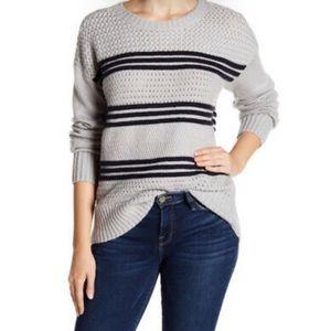 FRAME cashmere wool navy grey sweater sz S